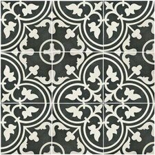 "Artea 9.5"" x 9.5"" Porcelain Field Tile in Black"