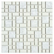 "Academy 11.75"" x 11.75"" Porcelain Mosaic Tile in White"