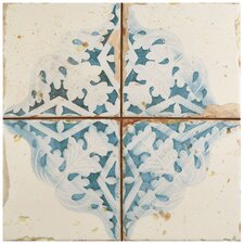 "Artisanal 13"" x 13"" Ceramic Field Tile in Azul"