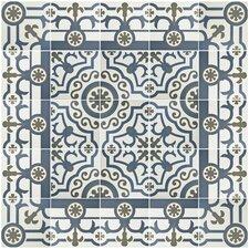 "Hydraulic 9.5"" x 9.5"" Porcelain Field Tile in Ducados Cenefa"