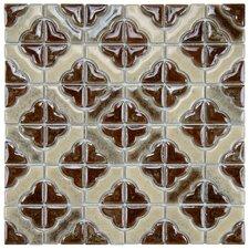 "Castle 11.75"" x 11.75"" Porcelain Mosaic Tile in Henna"