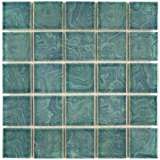 "Utopia 2.28"" x 2.28"" Porcelain Mosaic Tile in Palm Green"