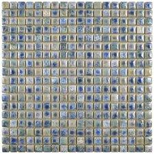 "Arcadia 0.563"" x 0.563"" Porcelain Mosaic Tile in Neptune Blue"
