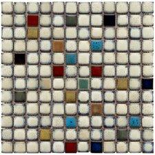 "Essentia 12"" x 12"" Porcelain Mosaic Tile in Cascade"