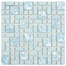 "Academy 11.75"" x 11.75"" Porcelain Mosaic Tile in Blue"