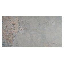 "Arriba 12.5"" x 24.5"" Porcelain Field Tile in Grey"