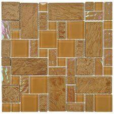 """Eden 11.75"""" x 11.75"""" Glass and Stone Mosaic Tile in Peony"""