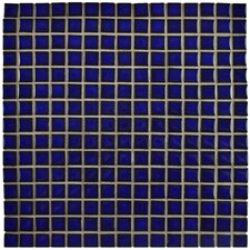 "Morgan .75"" x .75"" Porcelain Mosaic Floor and Wall Tile in Cobalt"