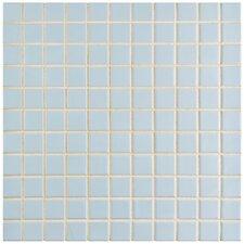 """Retro 1"""" x 1"""" Porcelain Mosaic Tile in Matte Light Blue"""