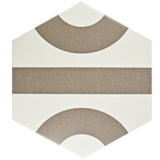 """Roulent 9.88"""" X 11.38"""" Porcelain Field Tile in Taupe"""