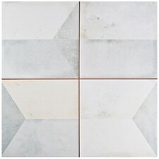 "Geamenti 17.58"" X 17.58"" Ceramic Field Tile in Gray"