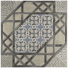 "Oliba 17.63"" X 17.63"" Ceramic Field Tile in Gray"