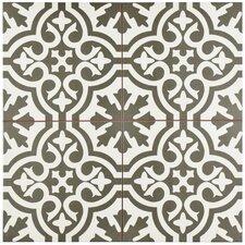 "Alameda 17.63"" x 17.63"" Ceramic Field Tile in Charcoal"
