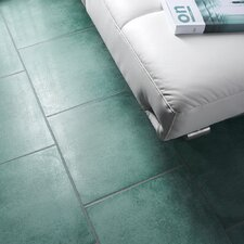 "Symbals 14.13"" x 14.13"" Porcelain Field Tile in Green"