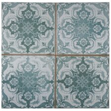 "Royalty 17.75"" x 17.75"" Ceramic Field Tile in Seagate"