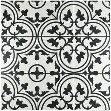 "Artea 9.75"" x 9.75"" Porcelain Field Tile in White"