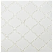 "Retro Lantern 2.87"" x 3.06"" Porcelain Mosaic Tile in Glossy White"