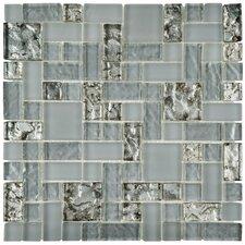 """Sierra 11.75"""" x 11.75"""" Glass Mosaic Tile in Versailles Vesuvius"""
