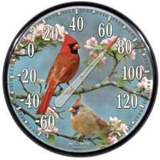 Indoor / Outdoor Cardinals Thermometer