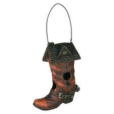 Cowboy Boot Novelty Hanging Birdhouse