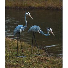 2 Piece Herons Statue Set