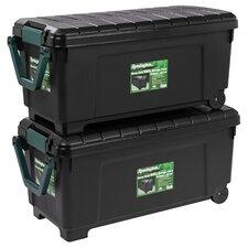 42 Gallon Heavy Duty Storage Trunk with Wheels (Set of 2)
