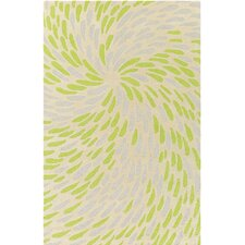 Flying Colors Eye of the Storm Hand-Tufted Cream Area Rug