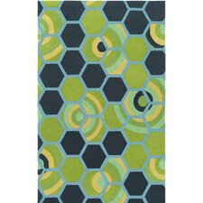 Kismet Hand-Tufted Green/Blue Area Rug