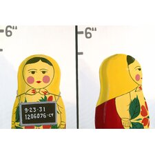 Matryoshka Mug Shot Giclee Painting Print on Canvas