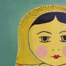 Matryoshka Tiny Face Giclee Painting Print on Wrapped Canvas