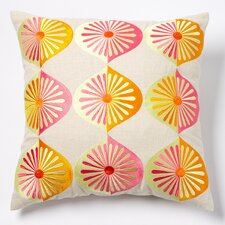 Many Fans Linen Throw Pillow