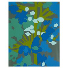 Blue Green Giclee Painting Print on Canvas