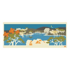 Pop Japan Japanese Riverview Painting Print