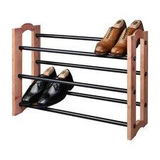 Expandable 3-Tier Shoe Rack