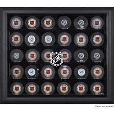 NHL 30 Hockey Puck Logo Display Case
