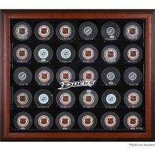 30 Hockey Puck Logo Display Case
