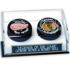 NHL Double Hockey Puck Display Case