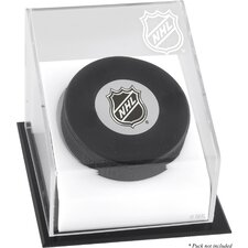 NHL Hockey Puck Logo Display Case