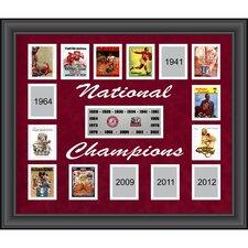 Alabama Crimson Tide 15-Time National Champions Framed Memorabilia