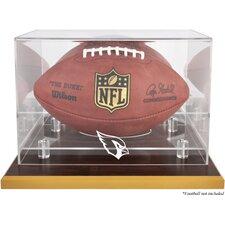 NFL Wood Base Football Logo Display Case