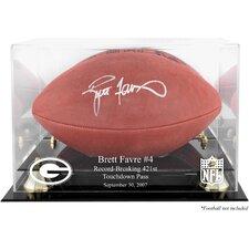 NFL Brett Favre 421st TD Record-Breaker Football Logo Display Case