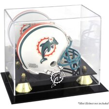 NFL Classic Logo Mini Helmet Display Case