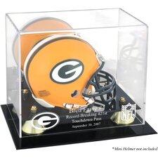 NFL Brett Favre 421st TD Record-Breaker Mini Helmet Display Case