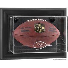 NFL Wall Mounted Football Logo Display Case