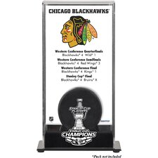 NHL 2013 Stanley Cup Champions Logo Standard Puck Display Case