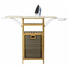 Bamboo Ironing Board with Laundry Hamper