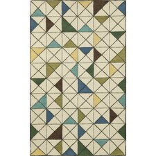 Fantasy Triangles Driftwood Area Rug