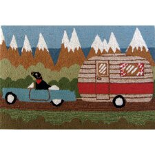 Frontporch Green Camping Dog Rug