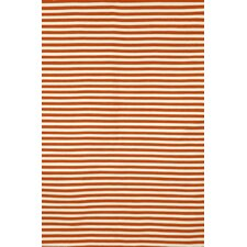 Sorrento Mini Stripe Paprika Orange/Ivory Indoor/Outdoor Area Rug