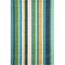 Newport Seaside Vertical Stripe Indoor/Outdoor Area Rug